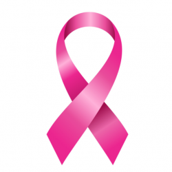 Picture of a pink ribbon for breast cancer awareness month