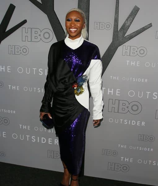 "Cynthia Erivo on the red carpet at the premiere Of HBO's ""The Outsider"""