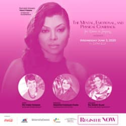 MBDA promo poster featuring Taraji P. Henson as the featured speaker