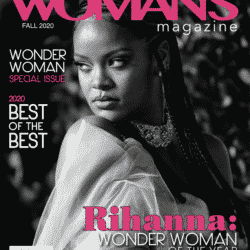 Rihanna feature cover on professional women's magazine wonder woman