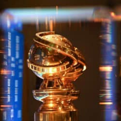 Image of golden globe awards trophy close up