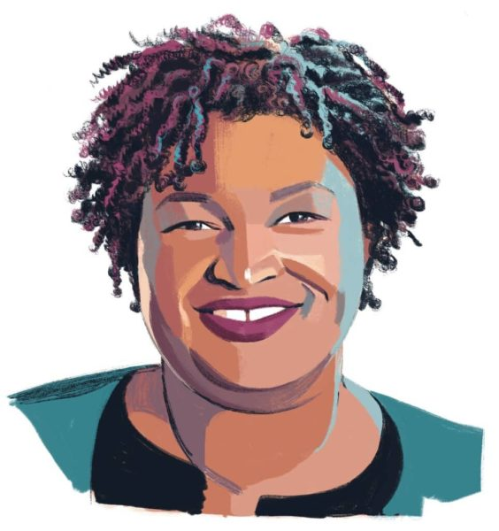 Illustration of Stacey Abrams